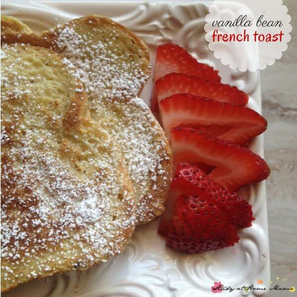Vanilla Bean French Toast - seriously, the BEST french toast you will ever make. You will never have to go out for brunch again!
