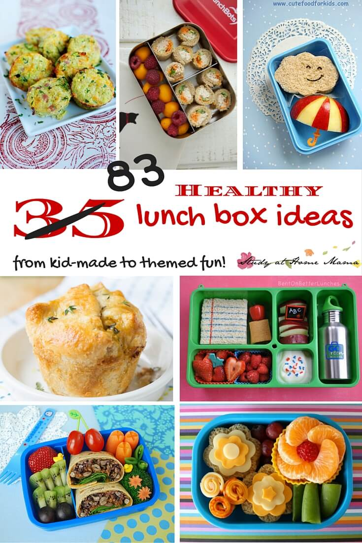 35 Healthy and fun lunch box ideas for kids - everything from paleo to vegetarian ideas, and all can be made peanut-free. Lunches kids can make independently, as well as fun, themed lunches for special occasions.