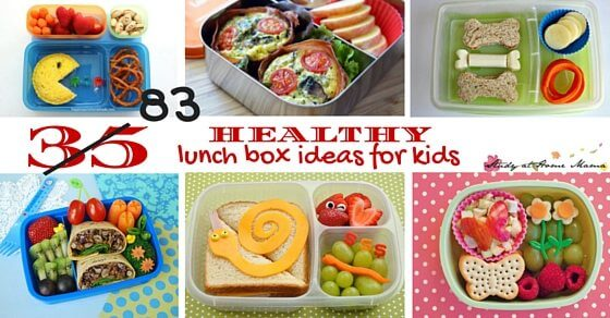 35 (83) Healthy Lunch Box Ideas for kids - and they all can be made peanut-free! Everything from easy lunches kids can make independently, to fun, themed lunches for a special treat.