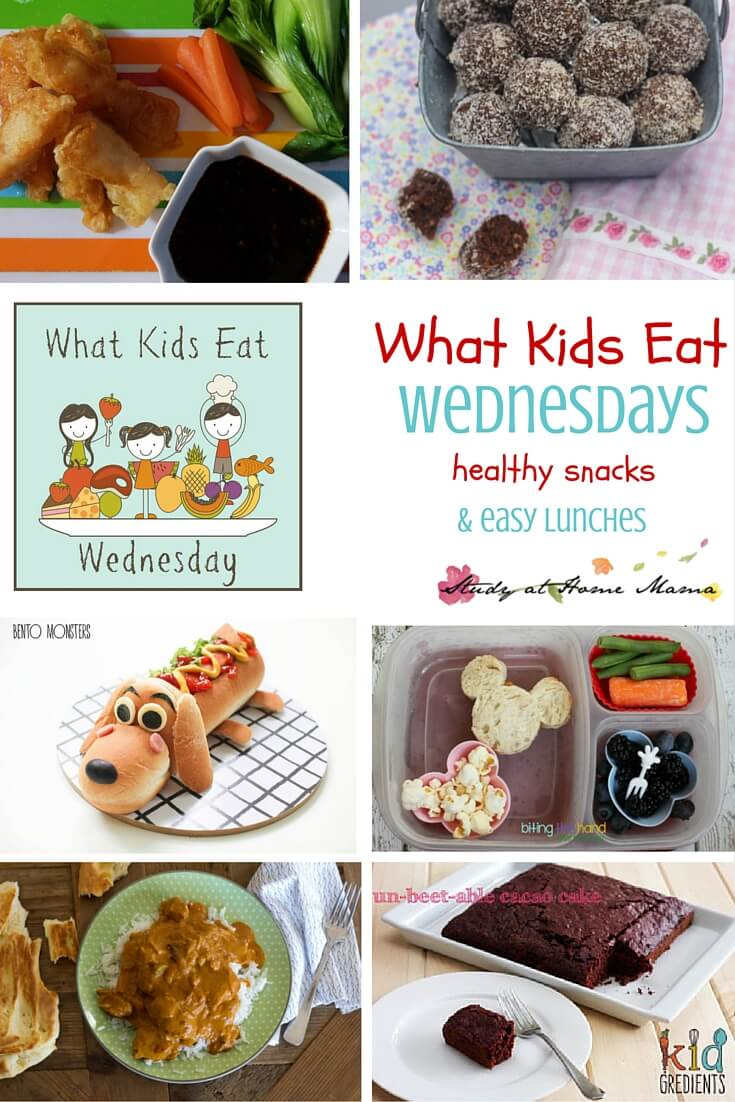 What Kids Eat Wednesdays - a weekly collection of amazing family-friendly food ideas from around the internet. This week we are focusing on healthy snacks and easy lunches