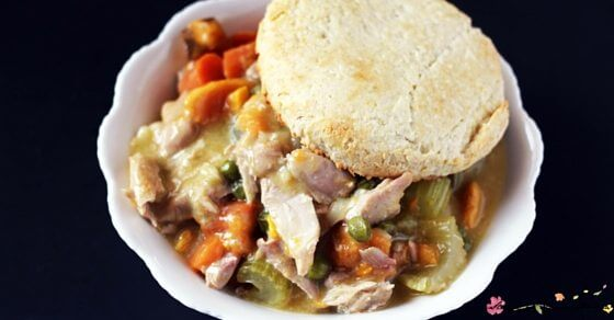 Crockpot Chicken Pot Pie is an easy, healthy meal the whole family will love - and will save you time in the kitchen