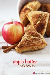 Apple butter scones