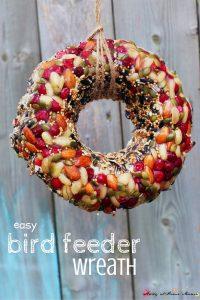Easy Bird Feeder Wreath