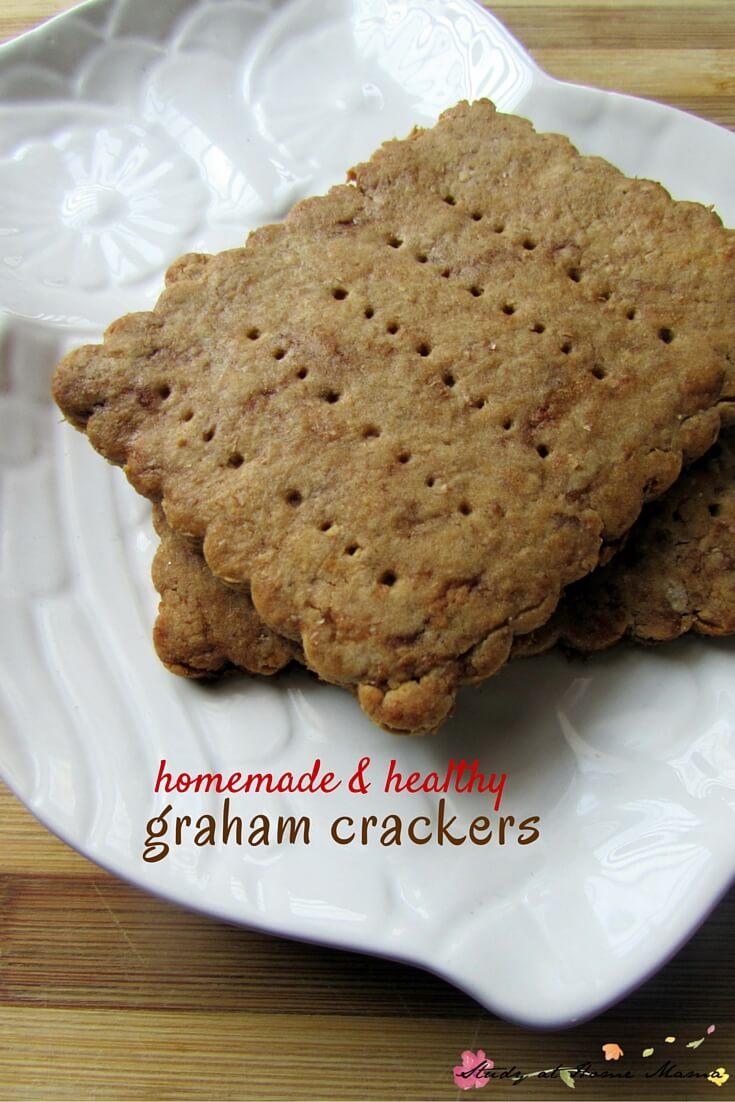 Homemade & Healthy Graham Cracker Recipe - refined sugar free and so tasty, you won't ever want to buy the boxed kind again.