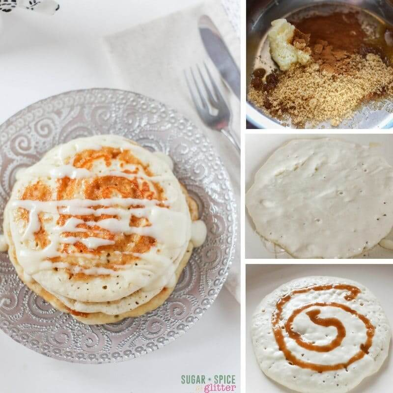 How to make the most delicious cinnamon bun pancakes for a special breakfast to remember
