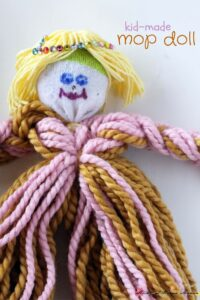 Kid-made Mop doll