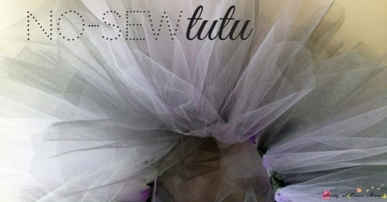Homemade no-sew tutu, a sweet homemade costume for your little ballerina. Kids can also help make their own tutus and practice their knot-tying skills