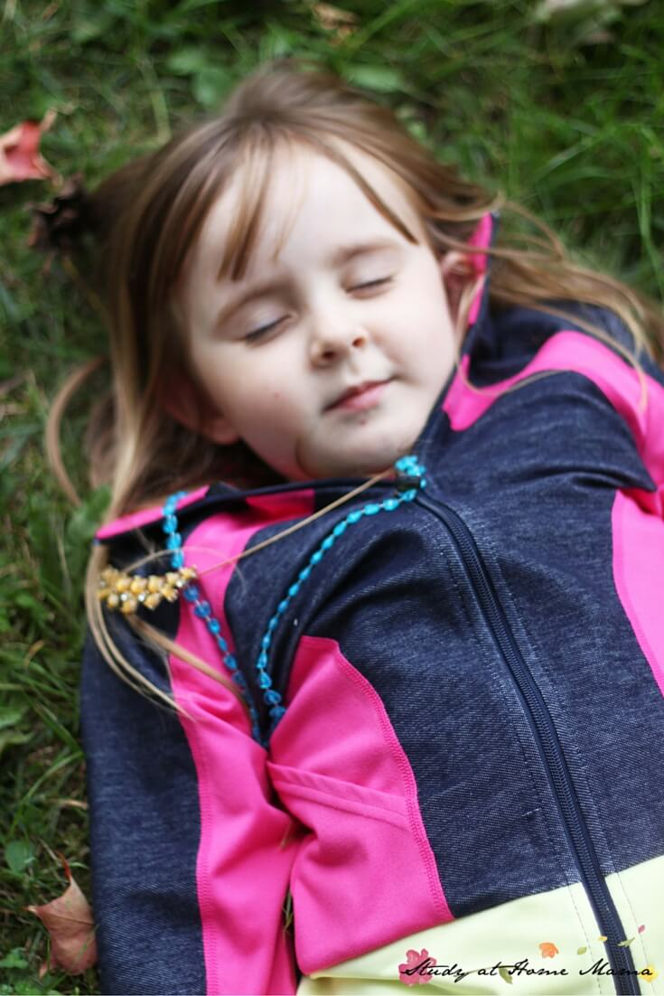 Savasana, resting pose, is the perfect way to end a kids' yoga sequence