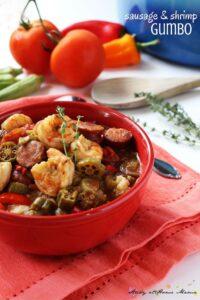 Sausage & shrimp gumbo