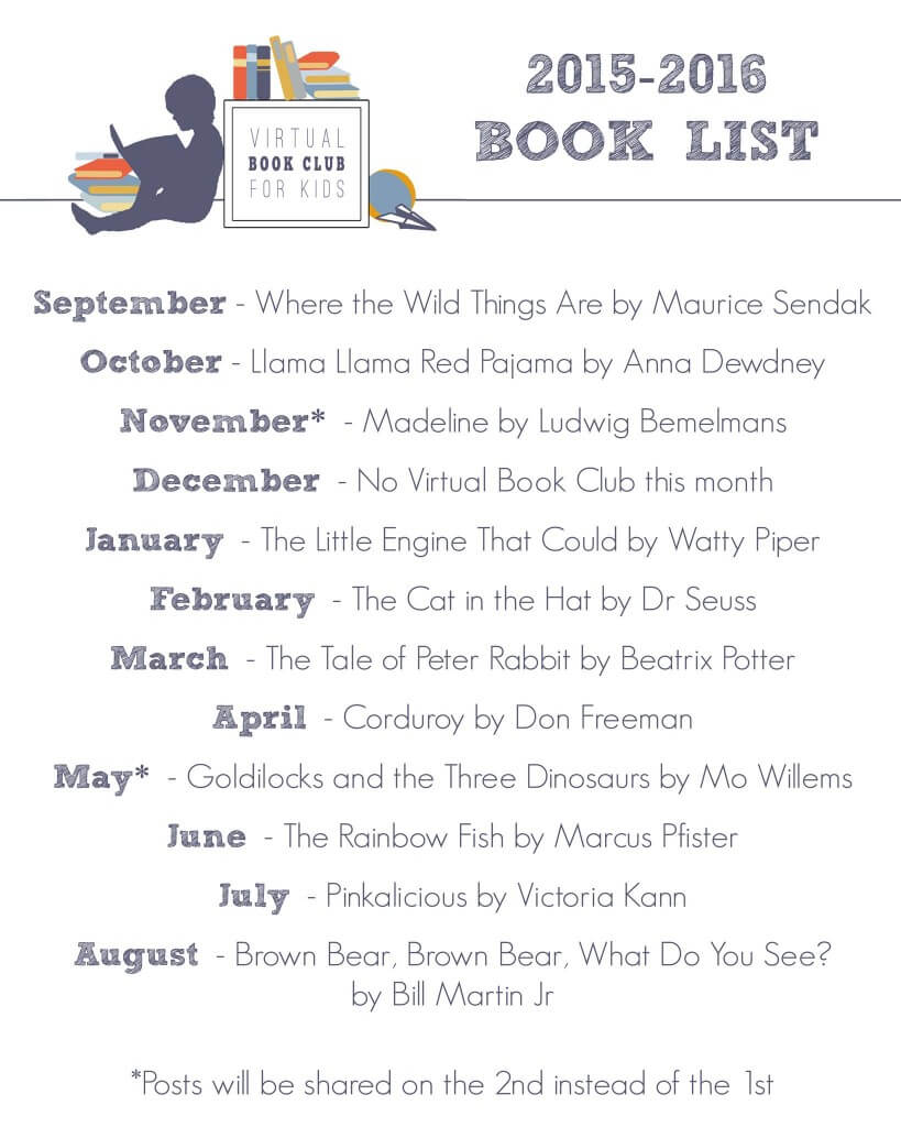 Virtual Book Club for Kids Book List for 2015-2016