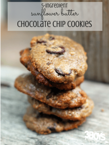 5-ingredient Sunflower Butter Chocolate Chip Cookies