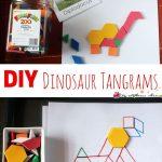 DIY Dinosaur Tangrams & 14 Dino Busy Bags