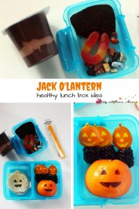 Jack O'Lantern Healthy Lunch Box Idea