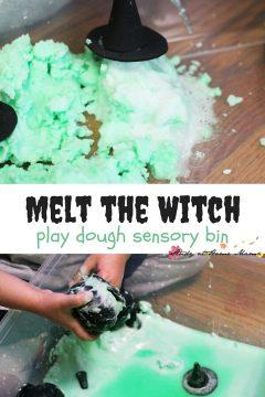 Melt the Witch Sensory Bin