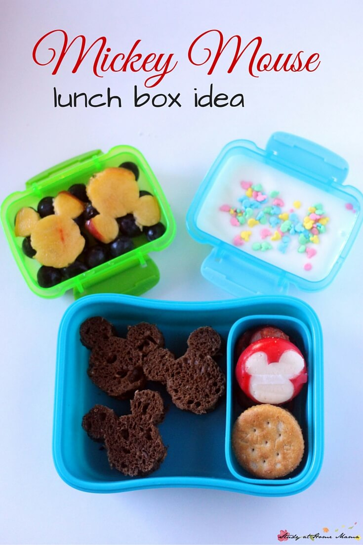 Easy healthy Mickey Mouse lunch box idea - simple touches to make a fun Disney bento box your kid will love