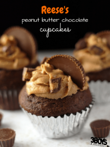 Reese's Peanut Butter Chocolate Cupcakes
