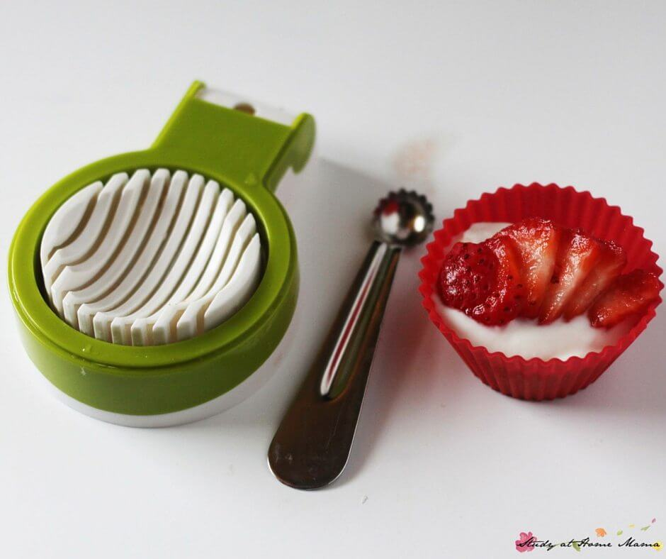 Kids Kitchen: Easy Strawberry & Yogurt Bedtime Snack for Kids