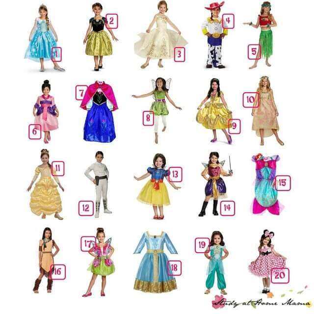 How cute are these Disney Princess Costume ideas? All under $30!