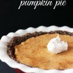 A Healthier Pumpkin Pie