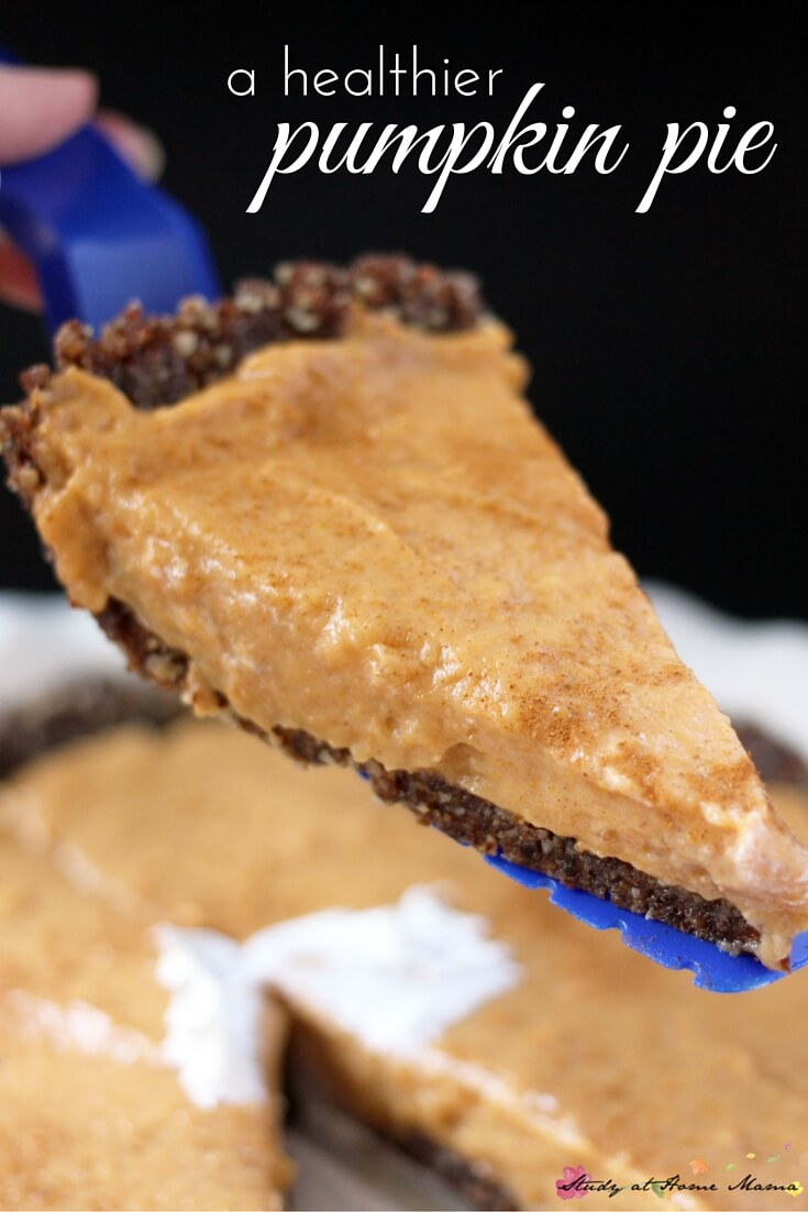 Healthy Pumpkin Pie Recipe - gluten-free, dairy-free, and with a good amount of protein, this healthy pumpkin pie recipe is so rich and delicious, you won't believe it's healthy.
