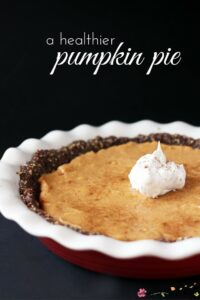 A Healthier Pumpkin Pie Recipe