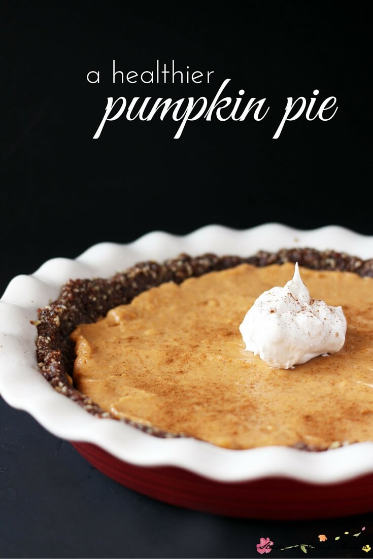Healthy Pumpkin Pie Recipe - gluten-free, dairy-free, and with a good amount of protein, this healthy pumpkin pie recipe is so rich and delicious, you won't believe it's healthy for you.
