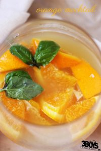 Orange Mocktail with sea salt