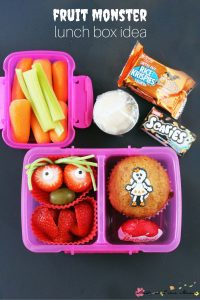 fruit monster lunch box idea