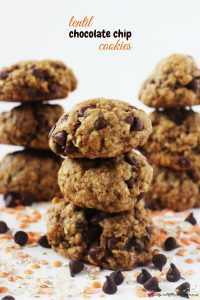 Lentil Chocolate Chip Cookies