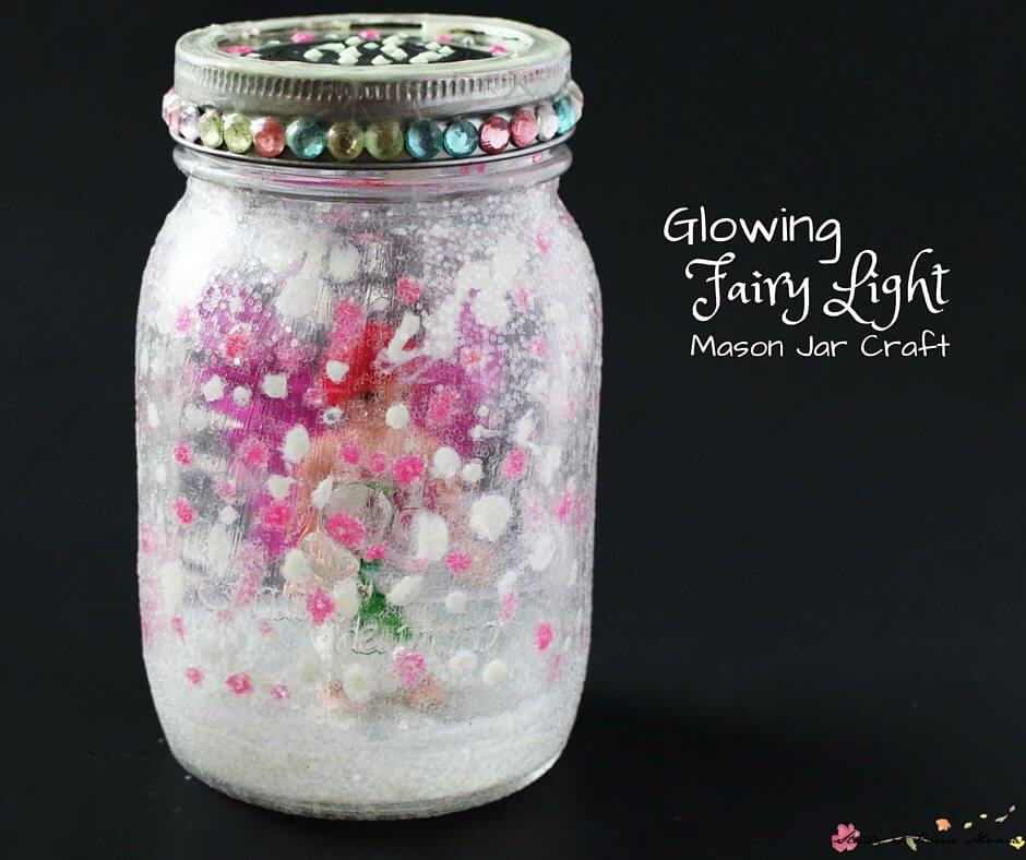 Glow Fairy Light is a fun imagination building Mason jar craft you kids will love. Use glow in the dark paint for extra level of exploration and fun!