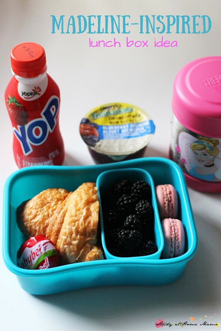 Madeline Lunch Box Idea - perfect if your child is obsessed with the book Madeline, or interested in French culture. A great healthy lunch box to send if your child is doing a France unit study.