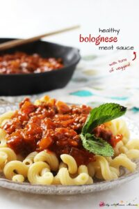 Healthy Bolognese Meat Sauce (with tons of veggies!)