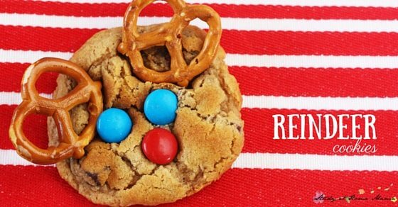 These reindeer cookies are too cute for words - check out how to make them on  Sugar, Spice and Glitter!