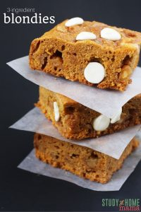 3-ingredient Blondie Squares