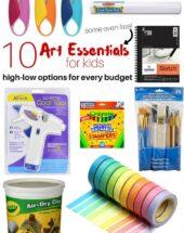 10 High-Low Art Essentials for Little Artists