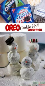 Oreo Cookie Ball Snowmen
