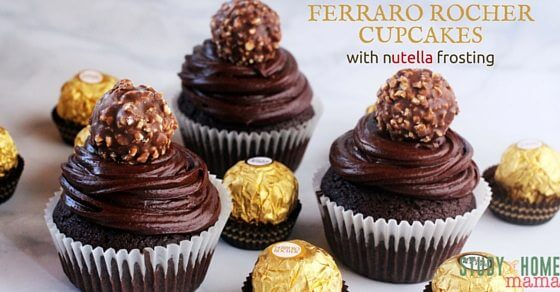 FERRERO ROCHER CUPCAKES. Yes. You read that right. A moist chocolate cake with a rich Nutella frosting, topped with a Ferrero Rocher chocolate. Pure decadence - the perfect cupcake to bring to a party