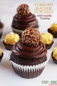 FERRERO ROCHER Cupcakes with Nutella Frosting