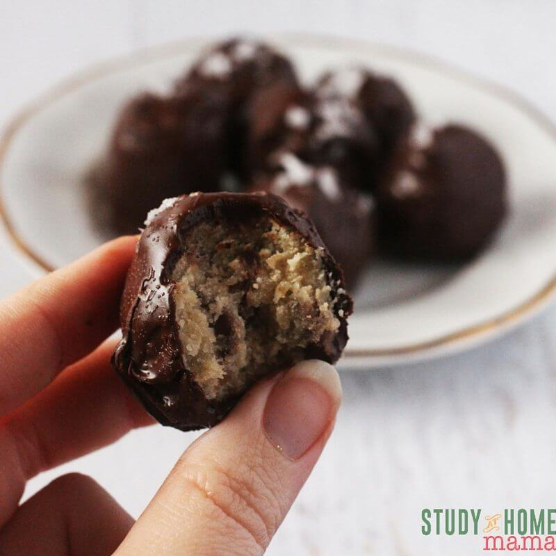 Creamy cookie dough covered in chocolate! Is there anything better?