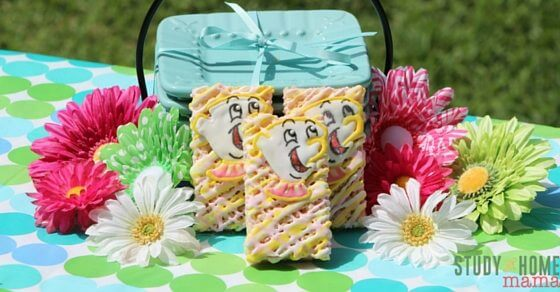 Chip is one of our favorite Disney characters. These fun, Chip Rice Krispie Treats will be a favorite kids snacks. Making icing figures are easier than you think with the right kitchen tools. Bring these to the next get together or change up the image for your favorite Disney character!