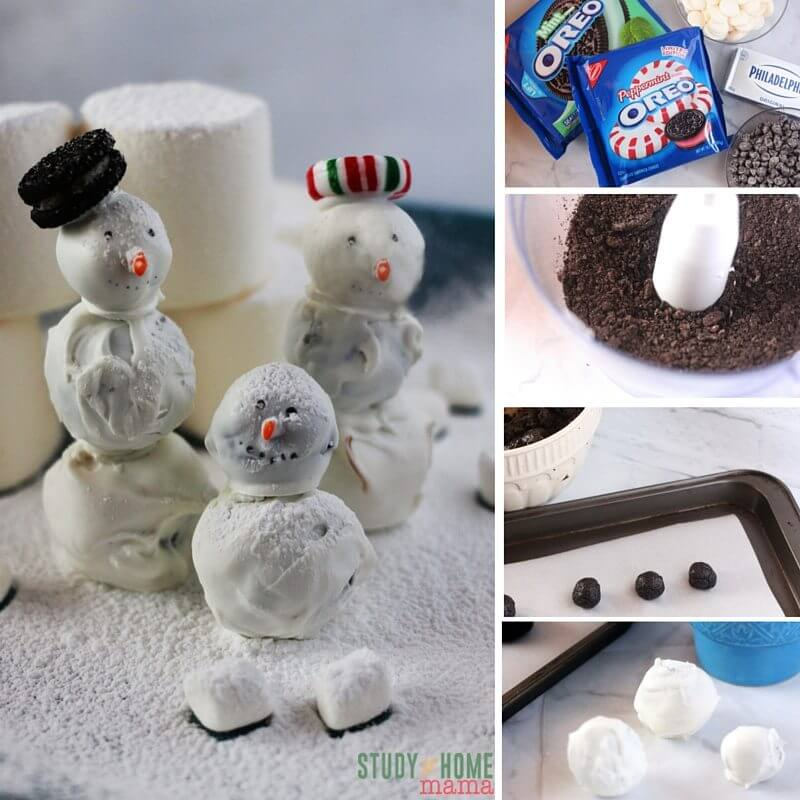 How to make OREO Cookie Ball Snowmen - a fun and festive twist on the classic no-bake cookie