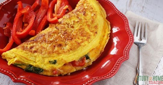 How to Make the Perfect Omelet - fluffy, gorgeous eggs with a perfectly cooked filling and just a hint of cheese, and no oily layer or taste. This is the ultimate healthy breakfast recipe to learn how to cook to make over your mornings