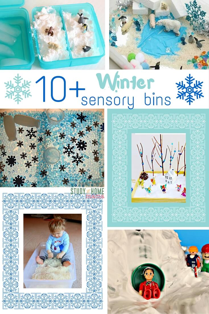10 Winter Sensory Bin Ideas - Frozen sensory bins, arctic small worlds, and winter wonderlands, we've collected the best Winter sensory bin ideas to keep kids busy when the weather turns cool