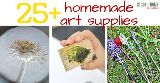 25+ Homemade Art Supplies to help you save money while providing your little artists with wonderful art supplies & creative experiences