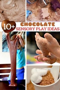 Chocolate Sensory Play Ideas