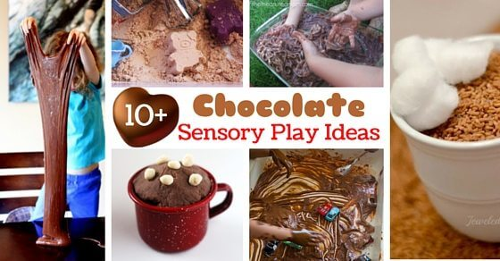 Chocolate Sensory Play Ideas your kids will love! So many chocolate sensory activities for kids, you'll never run out!