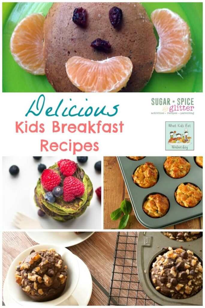 Delicious Kids Breakfast Recipes on Sugar, Spice & Glitter perfect for the those mornings you just want to make your kids smile.