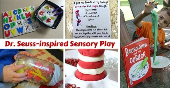 Sensory activities for kids based on the classic Dr Seuss books