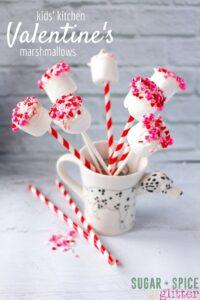 Kids Kitchen Valentine's Day Marsmallows Recipe