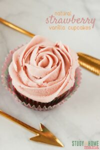 Natural Strawberry Buttercream Cupcakes (2)